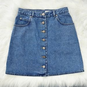 Asos Button Down Denim Skirt